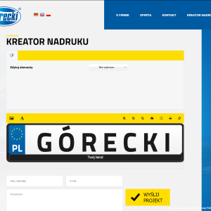 Configurator of plate frames